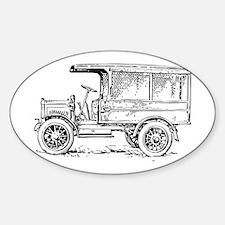 Old medium truck Decal