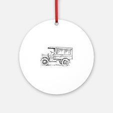 Old medium truck Round Ornament