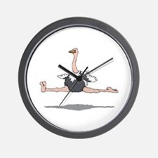 Ostrich Leaping Wall Clock