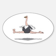 Ostrich Leaping Decal