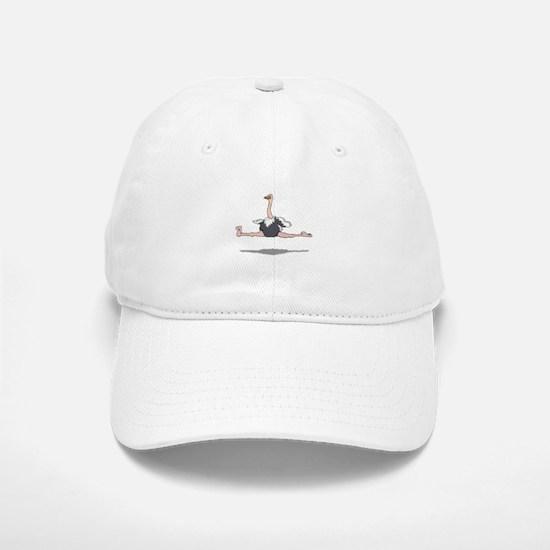 Ostrich Leaping Baseball Baseball Cap