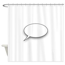 Cartoon speech bubble Shower Curtain