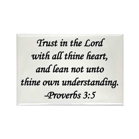 """Trust in the Lord"" Rectangle Magnet (100 pack)"
