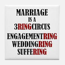 3 Ring Circus Tile Coaster