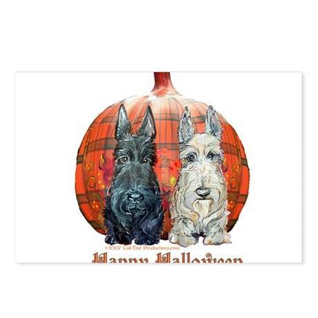 Halloween Pumpkin Scotties Postcards (Package of 8