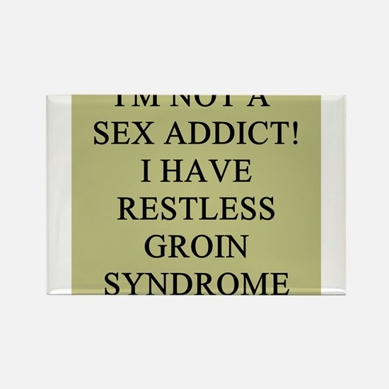 sex addict gifts t-shirts Rectangle Magnet