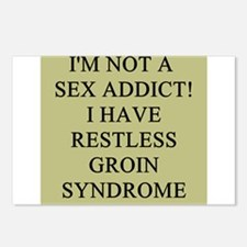 sex addict gifts t-shirts Postcards (Package of 8)