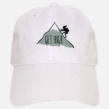 Get High: Mountain Climbing Baseball Baseball Cap