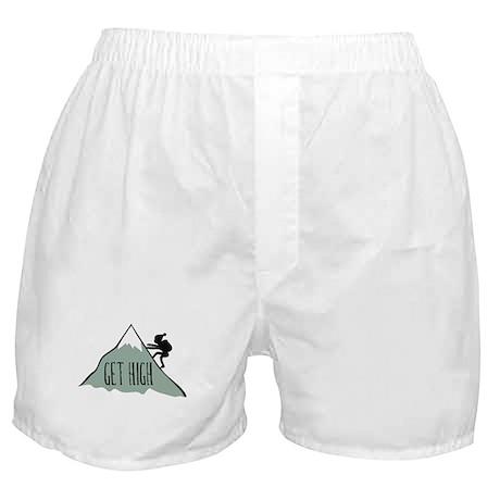 Get High: Mountain Climbing Boxer Shorts