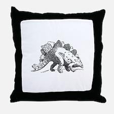 Dinosaur stegosaurus Throw Pillow