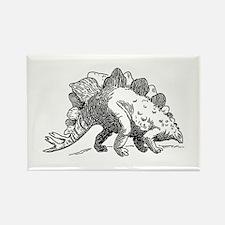 Dinosaur stegosaurus Magnets