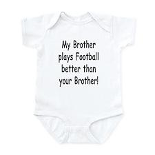 Unique Football sister Infant Bodysuit