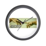 Freedom is a Divine Gift Wall Clock