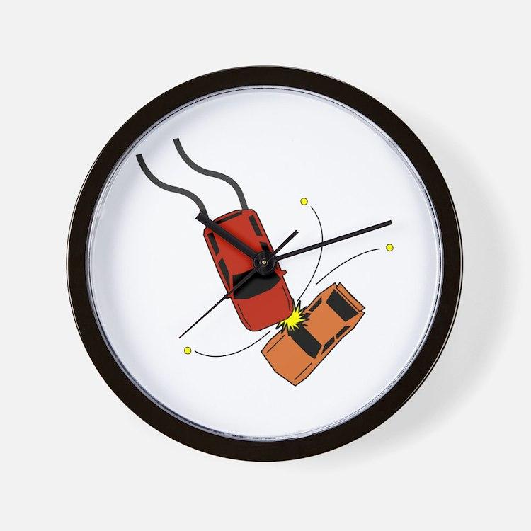 Car Accident Wall Clock