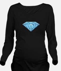 Diamond Long Sleeve Maternity T-Shirt