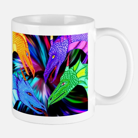 dragon heads Mugs