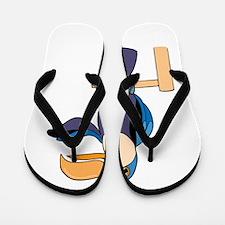 Toucan on stand Flip Flops