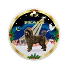 Gold-Peace-Chocolate PWD Ornament (Round)