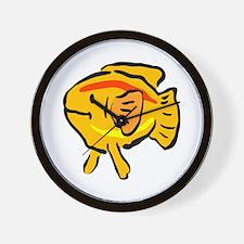 Fat gold fish Wall Clock
