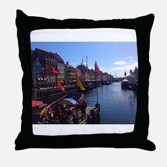 Canal Tour Time Throw Pillow