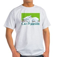 Cat Purrson Ash Grey T-Shirt