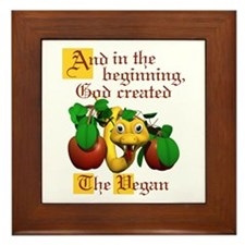 God Created The Vegan Framed Tile