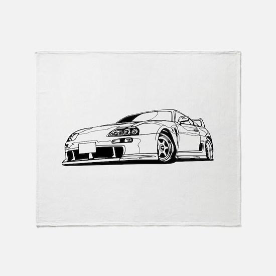 Porsche 911 car Throw Blanket