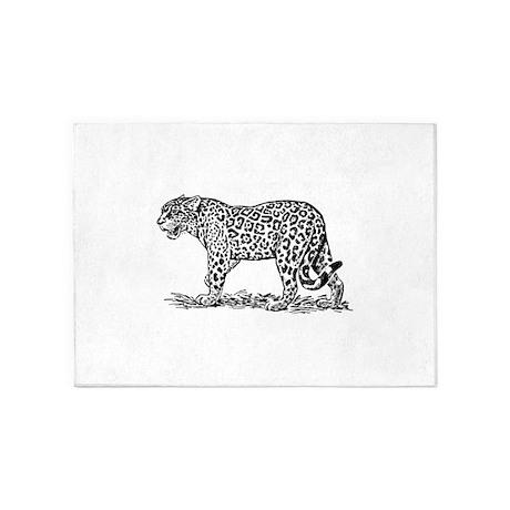 Jaguar Silhouette 5 X7 Area Rug By Admin Cp132411261