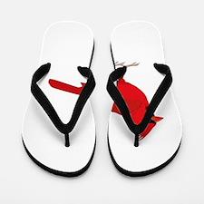 Red cardinal Flip Flops