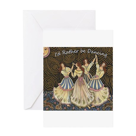 The Dancing Spice Girls Greeting Card