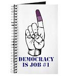 Vote Finger - Democracy is Job #1 Journal