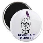 Vote Finger - Democracy is Job #1 Magnet