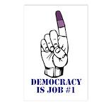 Vote Finger - Democracy is Job #1 Postcards (Packa