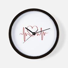 Heartbeat of Love ECG Wave Wall Clock