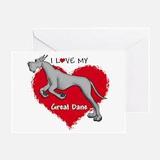 Love Black Dane Greeting Card