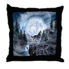 Cool Wolf Throw Pillow