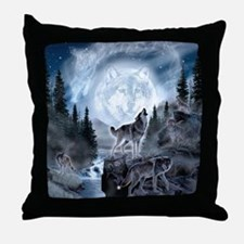 Unique Wolf Throw Pillow