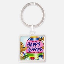 Unique Easter Square Keychain