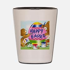 Cute Easter bunny Shot Glass