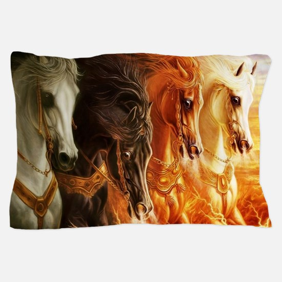 Funny Horses Pillow Case