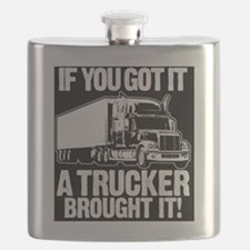 Funny Trucking Flask