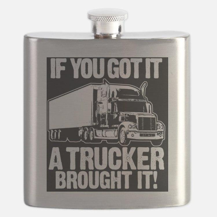 Cute Trucking Flask