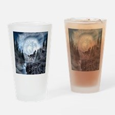 Funny Wolfs Drinking Glass
