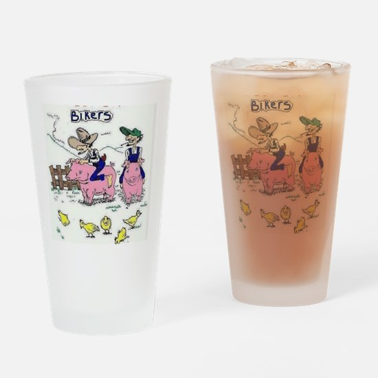 Funny Hogs Drinking Glass