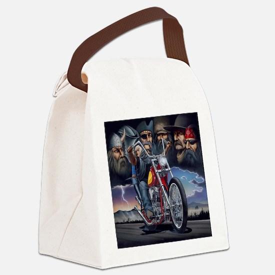 Cool Biker Canvas Lunch Bag