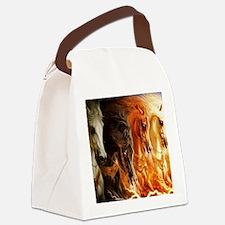 Unique Horses Canvas Lunch Bag