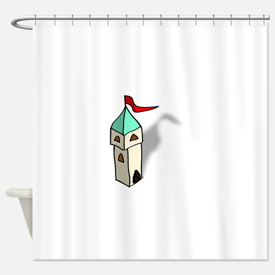 Rpg map symbols tower Shower Curtain