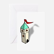 Rpg map symbols tower Greeting Cards