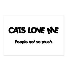 Cats Love Me Postcards (Package of 8)