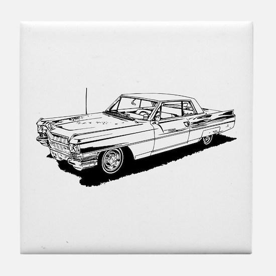 1957 Ford Thunderbird Tile Coaster